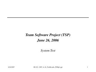 TSP - Team Software Project