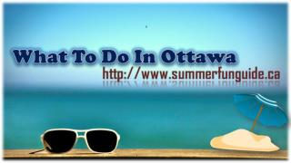 What To Do In Ottawa