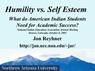Humility vs. Self Esteem