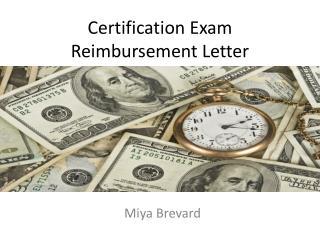 Certification Exam Reimbursement Letter