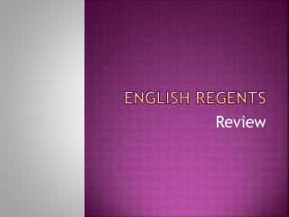 English regents