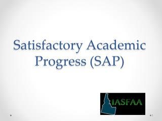 Satisfactory Academic Progress (SAP)
