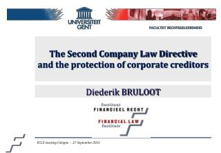 The Second Company Law Directive  and the protection of corporate creditors