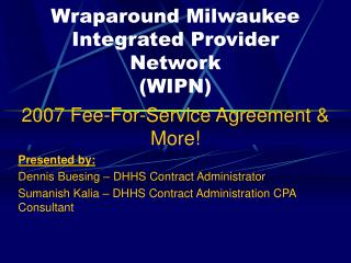 Wraparound Milwaukee Integrated Provider Network WIPN