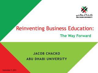 Reinventing Business Education: