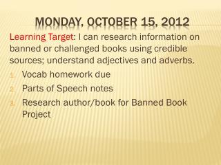Monday, October 15, 2012