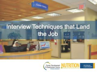 Interview Techniques that Land the Job
