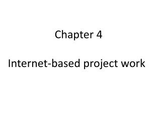 Chapter 4  Internet-based project work