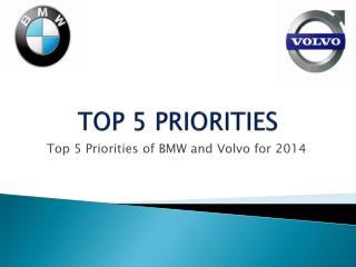 TOP 5 PRIORITIES