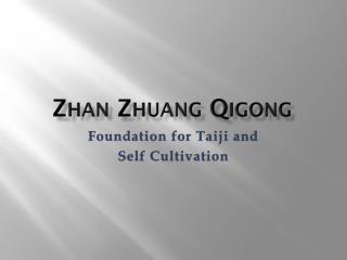 Zhan Zhuang Qigong