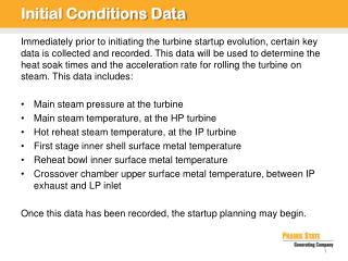 Initial Conditions Data