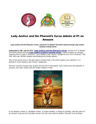 Lady Justice and the Pharaoh's Curse debuts at #1 on Amazon