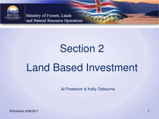 Section 2 Land Based Investment