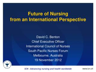 Future  of Nursing  from  an International  Perspective