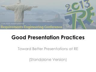 Good  Presentation  Practices