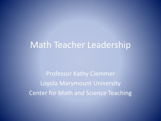 Supporting Rigorous Teaching and Learning of Mathematics
