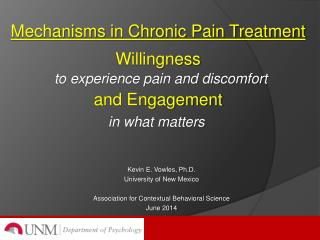 Mechanisms in Chronic Pain Treatment Willingness and Engagement