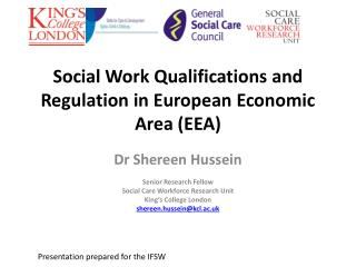 Social Work Qualifications and Regulation in European Economic Area (EEA)
