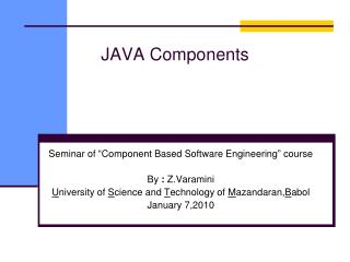 JAVA Components
