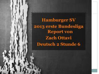 Hamburger SV 2013  erste Bundesliga  Report von Zach  Ottavi Deutsch 2  Stunde  6