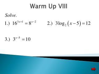 Warm Up VIII