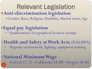 Relevant Legislation