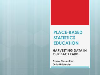 PLACE-BASED STATISTICS  EDUCATION
