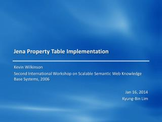 Jena Property Table Implementation