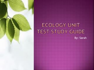 Ecology unit test study guide