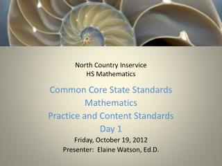 North Country  Inservice HS Mathematics