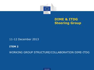 DIME & ITDG Steering Group