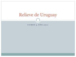 Relieve de Uruguay