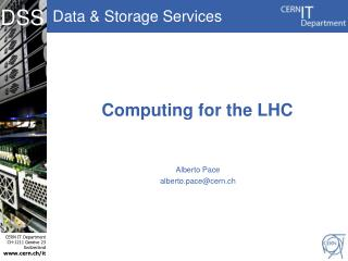 Computing for the LHC