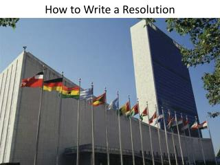 How to Write a Resolution