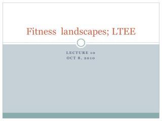 Fitness  landscapes; LTEE