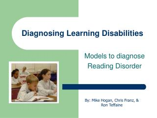 Diagnosing Learning Disabilities