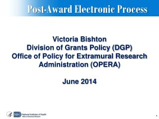 Post-Award Electronic Process