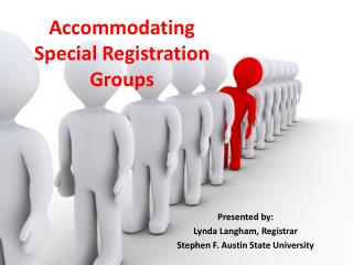 Accommodating Special Registration Groups