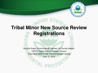 Tribal Minor New Source Review Registrations