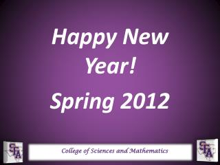 Happy New Year! Spring 2012