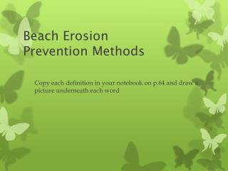 Beach Erosion  Prevention Methods