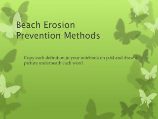Beach Erosion  Prevention Methods
