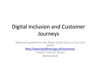 Digital Inclusion and Customer Journeys