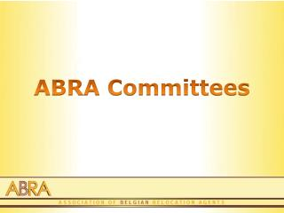 ABRA Committees