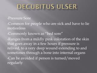 Decubitus Ulser