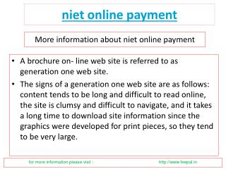 Ideas to acquire the most effective niet online payment