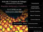 Actas del 1  Congreso de Te logas Latinoamericanas y Alemanas