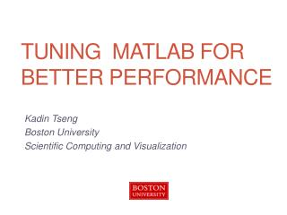 Tuning  MATLAB for better performance