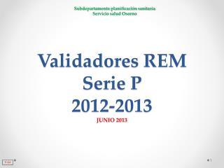 Validadores REM Serie P 2012-2013 JUNIO 2013