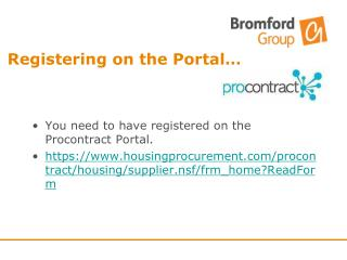 Registering on the Portal…